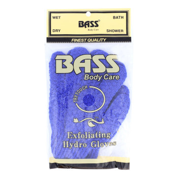 Bass Body Care Exfoliating Hydro Gloves  - 1 Each - Ct
