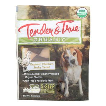 Tender & True Organic Chicken Jerky Treats  - Case Of 10 - 4 Oz