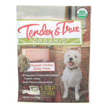 Tender & True Organic Turkey Jerky Treats  - Case Of 10 - 4 Oz