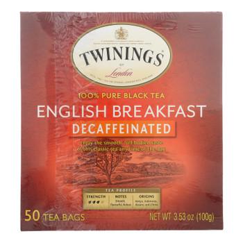Twinings Tea - Tea Decaf English Breakfast - Case Of 6 - 50 Bag