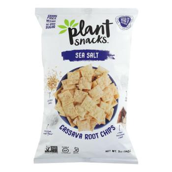 Cassava Crunch Plant Snacks, Sea Salt  - Case Of 12 - 5 Oz