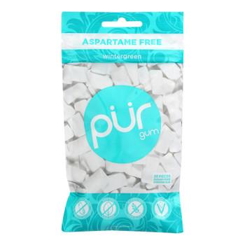 Pur Wintergreen Gum  - Case Of 12 - 2.72 Oz