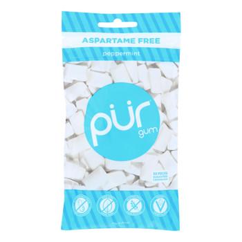 Pur Peppermint Gum  - Case Of 12 - 2.72 Oz