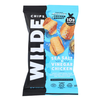 Wilde Thin And Crispy Chicken Chips - Case Of 12 - 2.25 Oz