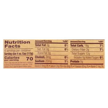 North Coast Organic Apple Sauce - Case Of 12 - 4/4 Oz