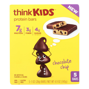 Think Kids Chocolate Chip Protein Bars - Case Of 6 - 5/1 Oz