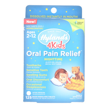Hylands Homeopathic - 4kids Pain Relf Night Orl - 1 Each - 125 Tab