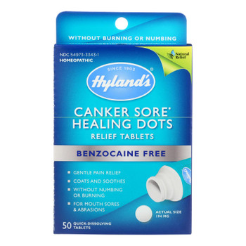 Hylands Homeopathic - Canker Sore Relief Dots - 1 Each - 50 Tab