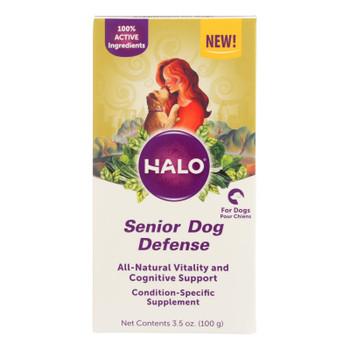 Halo Purely For Pets - Suplmnt Wf Sr Dog Defense - 1 Each - 3.50 Oz