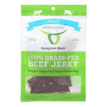 Homegrown Meats - Jerky Paleo Grass Fed - Case Of 24 - 2.5 Oz