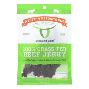 Homegrown Meats - Jerky Grass Fed Bbq Mesq - Case Of 24 - 2.5 Oz