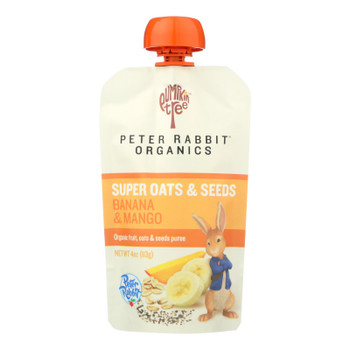 Peter Rabbit Organics - Oats&seeds Bana&mango - Case Of 10 - 4 Oz