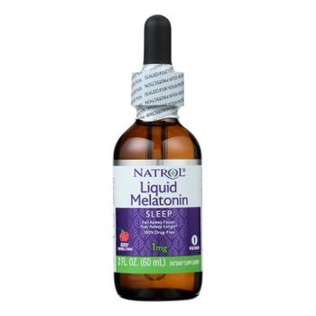 Natrol - Melatonin 1mg Liquid - 2 Fz