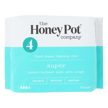 The Honey Pot - Herbal Super Pads - 16 Ct