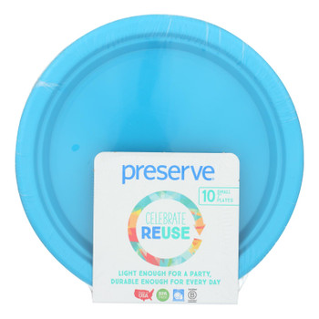 Preserve - Plates Sml On The Go Aqua - Case Of 12 - 10 Ct
