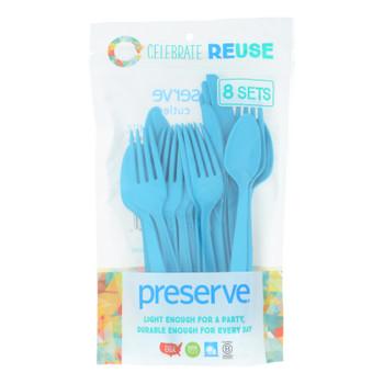 Preserve - Cutlery Hvy Duty Aqua - Case Of 12 - 24 Ct