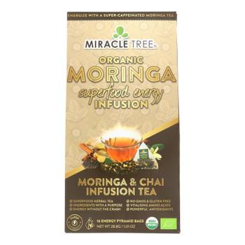 Miracle Tree - Tea Moringa Chia - Case Of 5 - 16 Ct