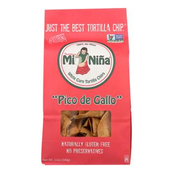 Mi Nina - Tort Chip Pico De Gallo - Case Of 9 - 12 Oz