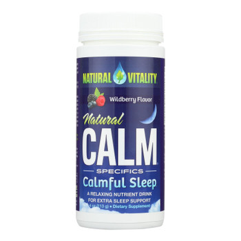 Natural Vitality's Natural Calm Specifics Calm Sleep With Natural Wildberry Flavor  - 1 Each - 6 Oz