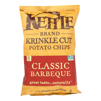 Kettle Brand Barbeque Krinkle Cut Potato Chips  - Case Of 9 - 13 Oz