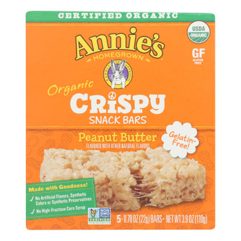 Annie's Homegrown - Snack Bar Peanut Butter - Case Of 8 - 3.9 Oz