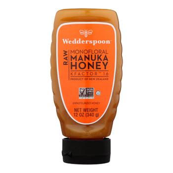 Wedderspoon - Manuka Honey Raw Squeeze Bottle - Case Of 6 - 12 Oz