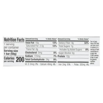 No Cow Bar - Energy Bar Coconut Almond - Case Of 12 - 1.77 Oz
