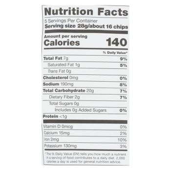 Plant Snacks - Casva Rt Chips Salt Vinegar - Case Of 12 - 5 Oz