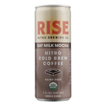 Rise Brewing Co. Mocha Latte Nitro Cold Brew Coffee, Mocha Latte - Case Of 12 - 7 Fz