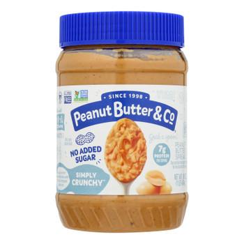Peanut Butter & Co - Peanut Butter No Sugar Crnchy - Case Of 6 - 16 Oz