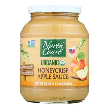 North Coast Organic Honeycrisp Apple Sauce  - Case Of 6 - 24 Oz