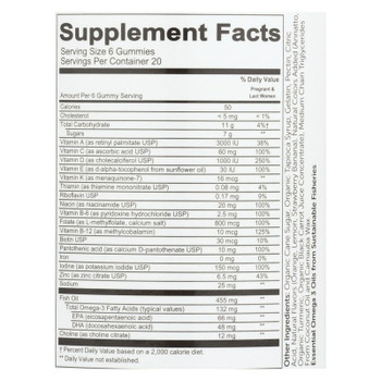 Smartypants Vitamins Prenatal Complete Strawberry Banana, Lemon, Orange Gummies  - 1 Each - 80 Ct