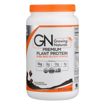 Growing Naturals - Rice Protein Powder Chocolt - 1 Each-33.58 Oz