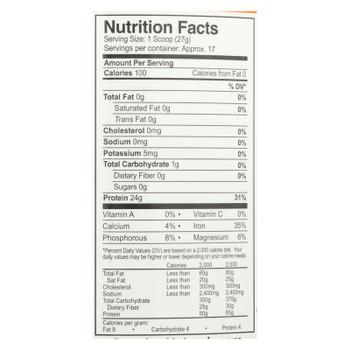 Growing Naturals - Rice Protein Powder Orignal - 1 Each - 16.19 Oz