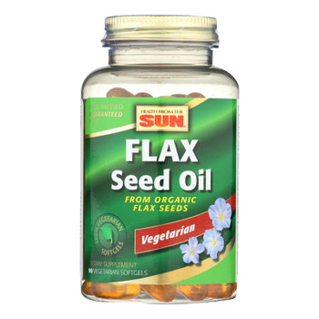 Health From The Sun Flax Seed Oil Dietary Supplement  - 1 Each - 90 Sgel