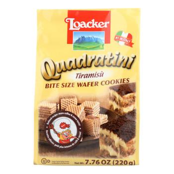 Loacker Quadratini Tiramisu Bite Size Wafer Cookies  - Case Of 6 - 7.76 Oz