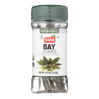 Badia Organic Bay Leaves  - Case Of 8 - .15 Oz