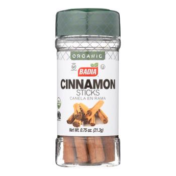 Badia Organic Cinnamon Sticks - Case Of 8 - .75 Oz