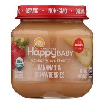Happy Baby - Cc Banas Strawberry Stg2 - Case Of 6 - 4 Oz