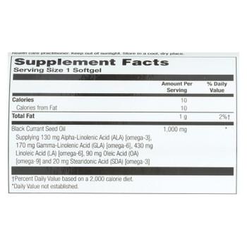 Health From The Sun Black Currant Oil Dietary Supplement - 1 Each - 60 Sgel