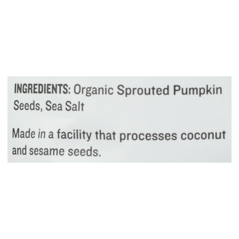 Go Raw Sprouted Seeds, Pumpkin With Celtic Sea Salt  - Case Of 6 - 14 Oz