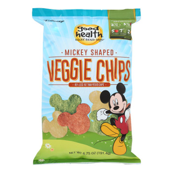 Good Health Mickey Shaped Veggie Chips  - Case Of 10 - 6.25 Oz