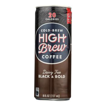 High Brew Cold-brew Coffee, Black & Bold  - Case Of 12 - 8 Fz