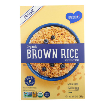 Barbara's Organic Brown Rice Crisps Cereal, Gluten-free  - Case Of 10 - 10 Oz
