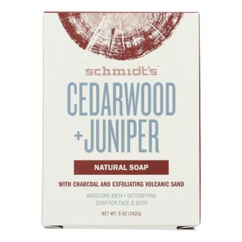 Schmidts - Bar Soap Cedarwd&juniper - 1 Each -5 Oz