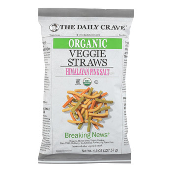 The Daily Crave - Veggie Straws - Case Of 8 - 4.5 Oz