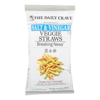 The Daily Crave - Veggie Straws Salt & Vinegar - Case Of 8 - 5.5 Oz