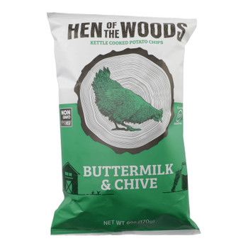 Hen Of The Woods - Chips Ketl Btrmlk Chive - Case Of 12-6 Oz