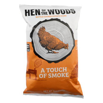 Hen Of The Woods - Chips Ktl Touch Of Smoke - Case Of 12-6 Oz
