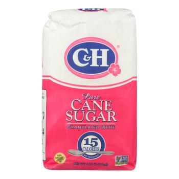 C & H Sugar Granulated White Pure Cane Sugar - Case Of 10 - 4 Lb